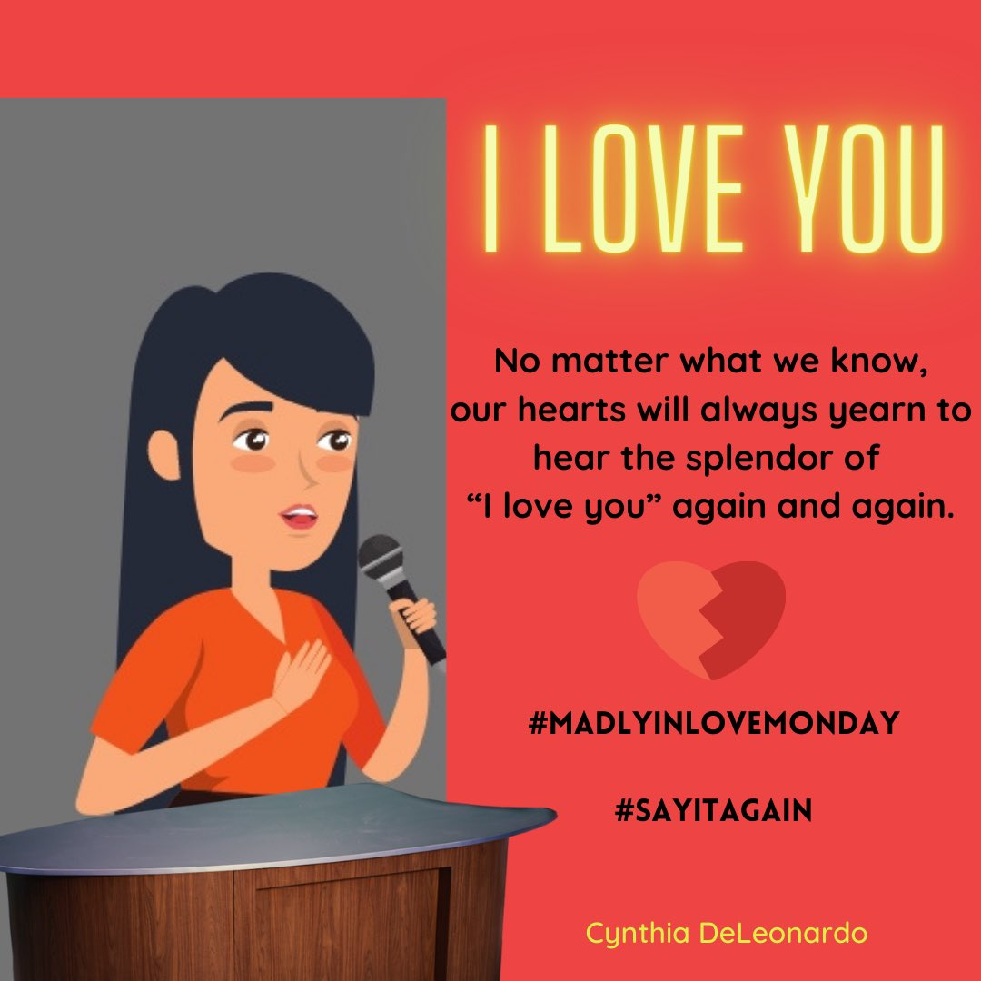 No matter what we know, our hearts will always yearn to hear the splendor of #ILoveYou, again and again. #SayitAgain #MadlyinLoveMonday ❤️ https://t.co/4uGenQIeG8 #MarieDigby https://t.co/ArVrBxAIu3