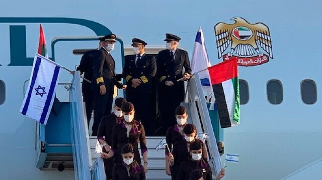 🔴 Etihad Airways operated a historic first passenger flight from #AbuDhabi   to Tel Aviv and back on Monday. This makes it the first airline from the Gulf region to fly to #Israel . #UAEIsrael https://t.co/XTt0zWQDkk