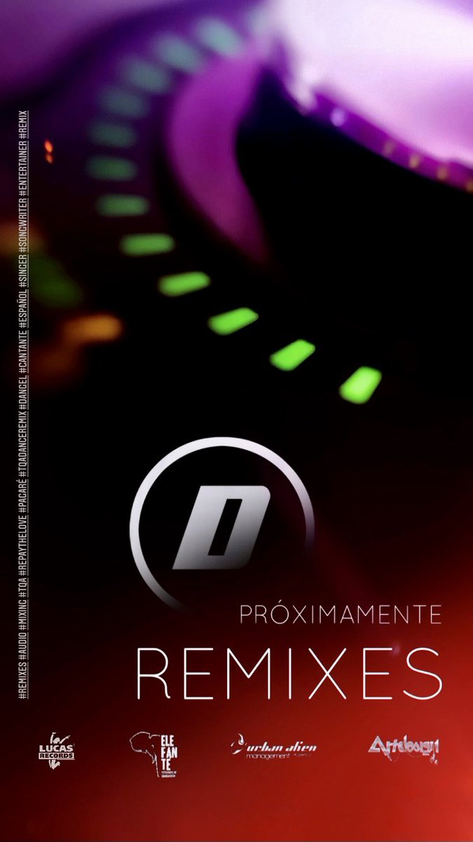 REMIXES 🎧 PRÓXIMAMENTE...  #Dangel #cantante #español #todaviaquedanangeles #singer #stillbelieveinangels #remixes #urbanlatinremix #tudebesdecidir #uhave2decide #luzinterior #remix #danceremix #Studio #tqadanceremix #songwriter #entertainer #productor #producer #studiotime https://t.co/7bLPWJozGh