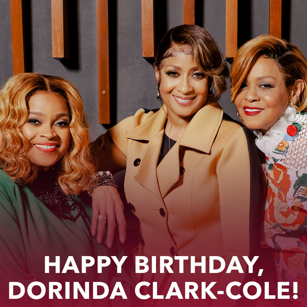 Help us wish @DorindaTheRose a very Happy Birthday! #TheClarkSisters 💗 https://t.co/XqFb5iXI75