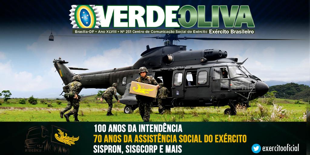 Confira a edição nº 251 da Revista Verde-Oliva. Esta edição destaca os 100 anos da Intendência, 70 anos da assistência social do Exército, dentre outros. Acesse: https://t.co/CbSKG3tEl4 https://t.co/2YZn0A79Z2