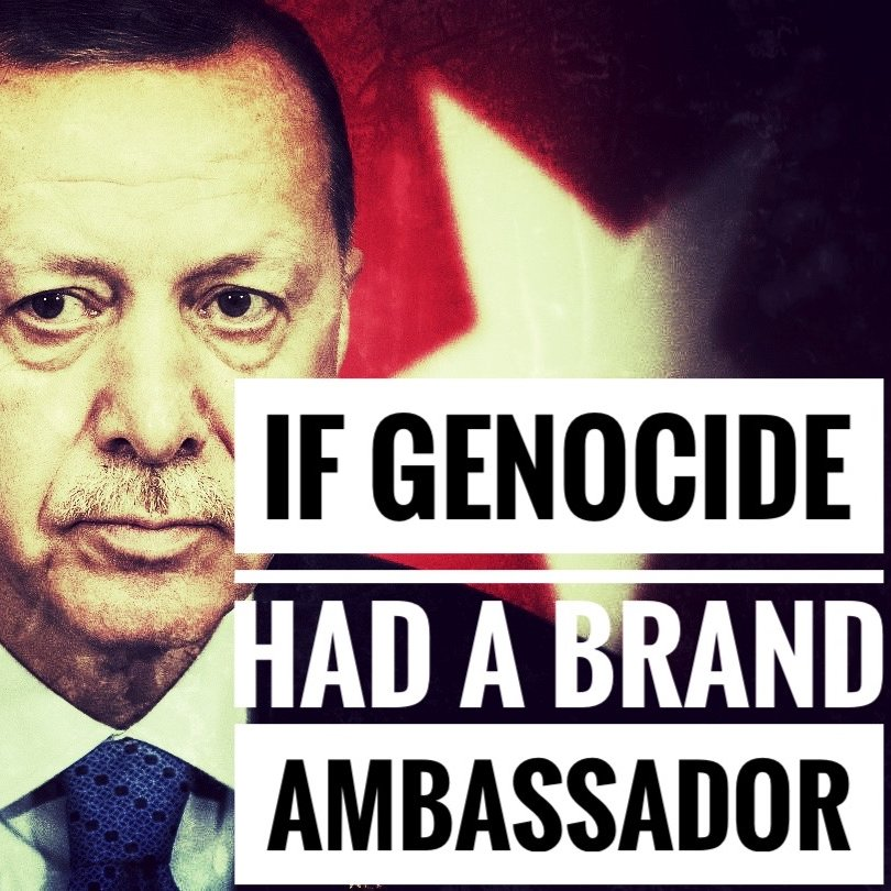 If Genocide had a brand ambassador @RTErdogan #Genocide  #StopAliyev #StopErdogan #ArtsakhStrong #SanctionTurkey  #RecognizeArtsakh #SanctionAzerbaijan #StopAzerbaijaniAggression https://t.co/fu3gPzT8i4