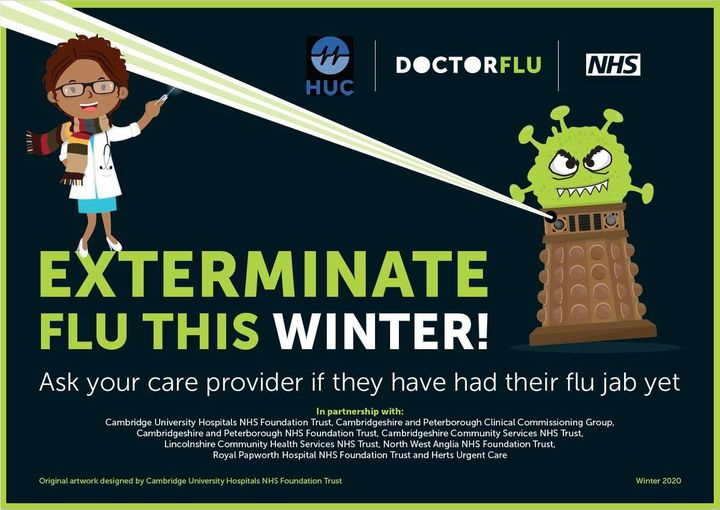 For protection against flu, you need to get the vaccine every year. The vaccine becomes less effective over time, so getting vaccinated every winter helps protect your family, your friends and everyone around you.💉💉  #DoctorFlu #flu https://t.co/SRB8q4j4Jr