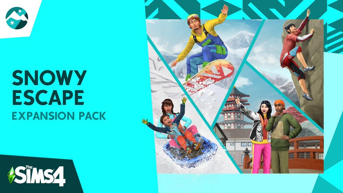 Próximamente: ¡Los Sims 4: Escapada en la nieve! ❄️  ¡Nos acercamos a la revelación del tráiler! Mañana 20 de octubre a las 5 p.m lo podréis ver aquí 👇🏻https://t.co/MmLwnX3oJU #Sims4SnowyEscape https://t.co/R6utnkng4f
