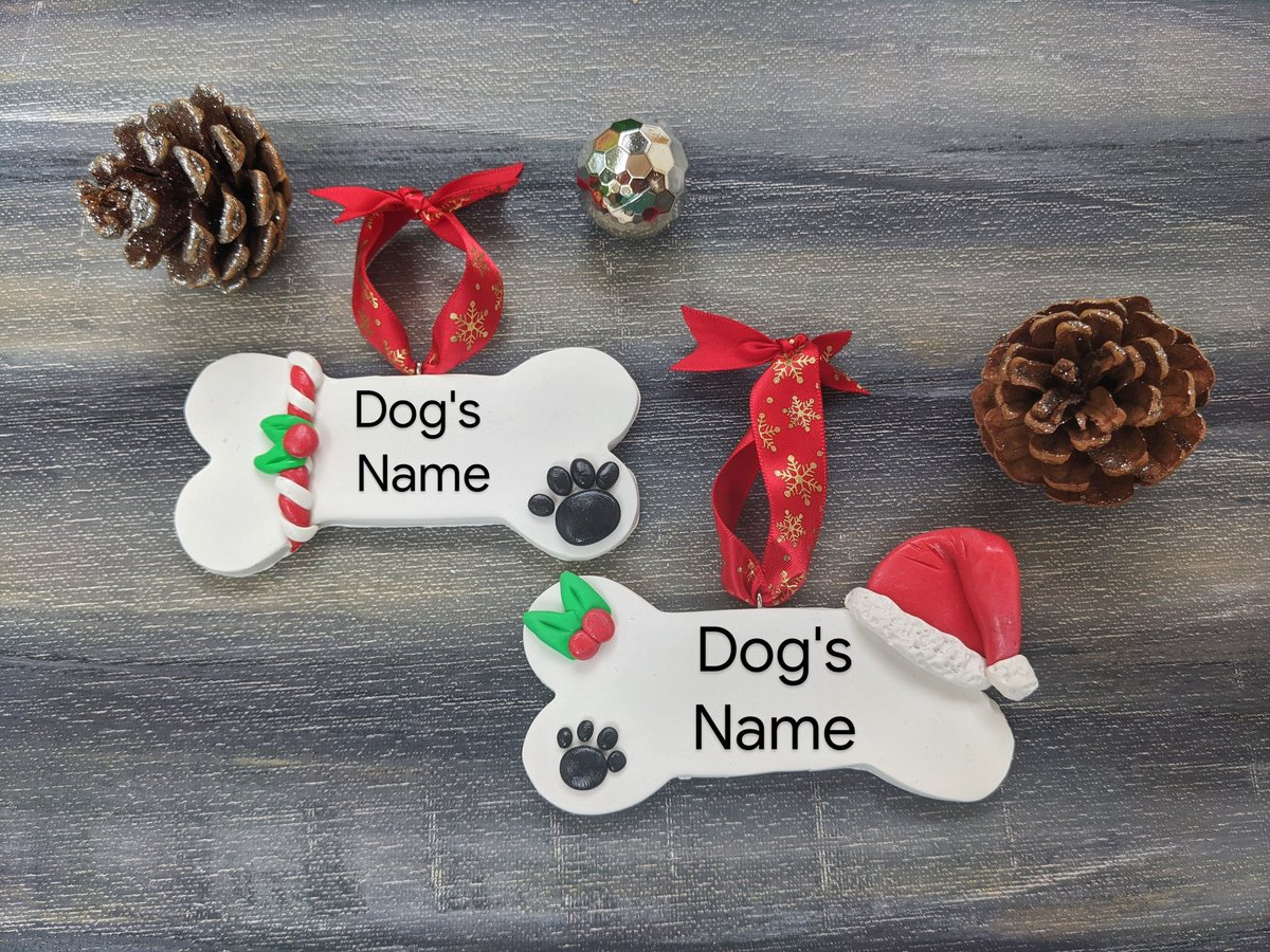 Dog bone ornament! 🐶🐕🐩🦮🐕‍🦺 #Christmasgifts #Dog #doglovers #Christmas2020 #etsy Click the link in the bio! #SmallBusinesses #etsyshop #EtsySeller #supportsmallbusiness #WestVirginia https://t.co/M5OWCxYeB7