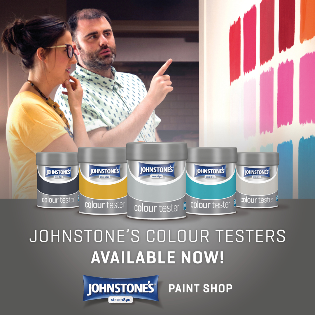 Great news! You can now purchase all the Johnstones Colour Testers via our online shop. Which Colour will you be choosing? Click here 👉 bit.ly/3nLvHx9