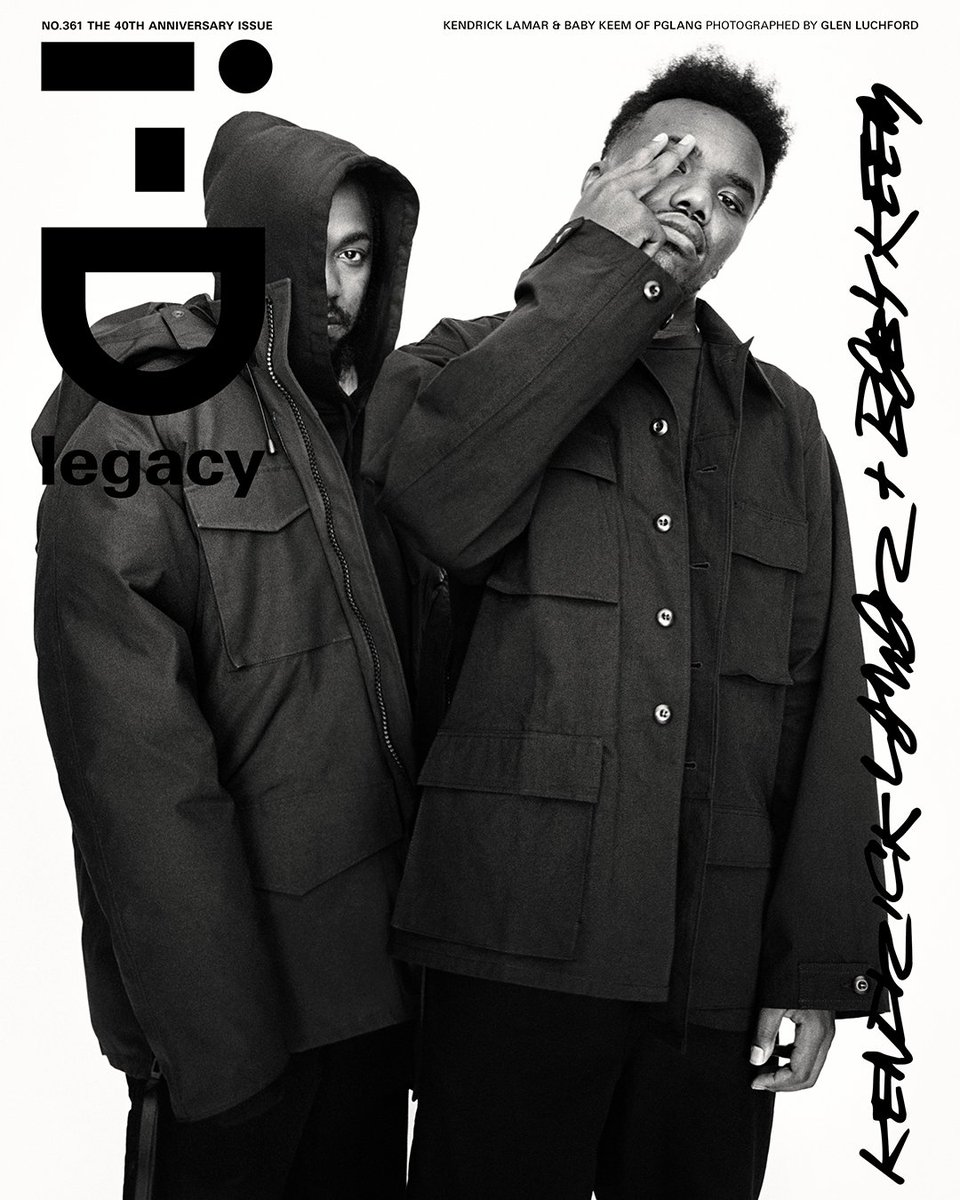 Introducing the first cover stars of i-D's 40th Anniversary Issue, @kendricklamar + @babykeem!   One of the most respected artists of his generation talks with one of most exciting new rappers on the planet:    On sale now: