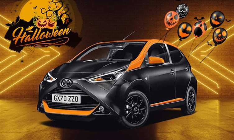 Our prices won't give you a fright!  Toyota Aygo JBL Edition, just £196.91 per month, with 0% APR*  https://t.co/YcAEgMKQIs  #Toyota #Aygo #Flintshire #Wrexham  *48 monthly payments of £196.91. 0% APR representative. £500 Finance Deposit Allowance and £300 Centre Contribution. https://t.co/nmhJEkwrhE