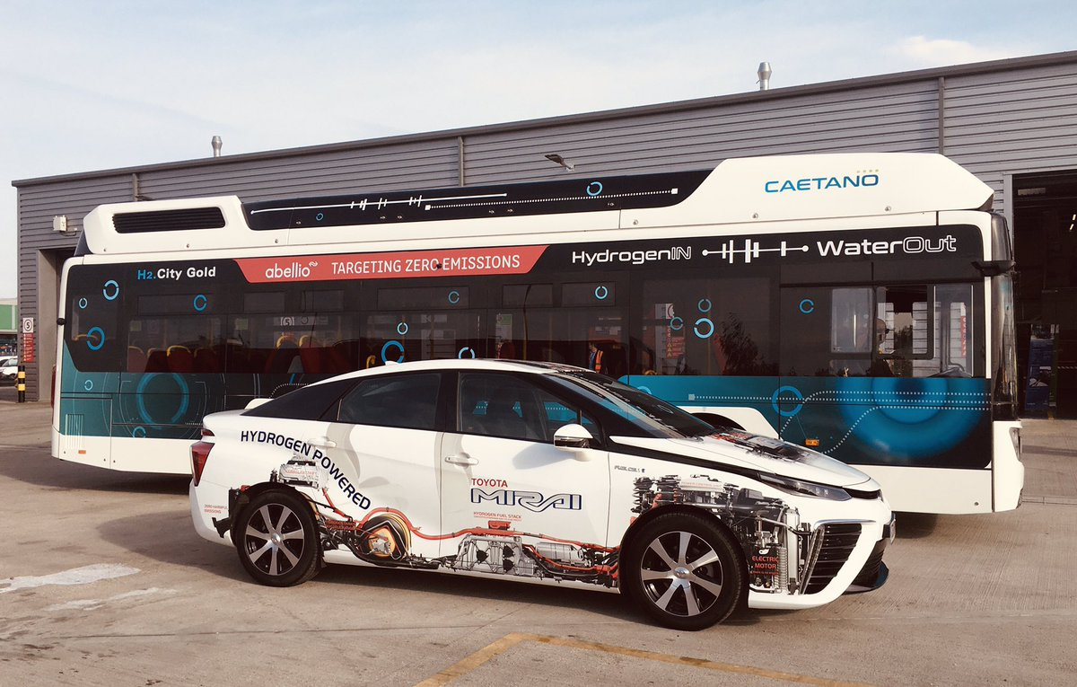 My #toyota #mirai shares the same #fuelstack as the #caetanobus which takes 63 people though. Fills in 9 minutes around 135kW a minute! Bet you couldn't do that with a #battery. #hydrogen https://t.co/ea78t5QmTB https://t.co/Gc1tCcx07t
