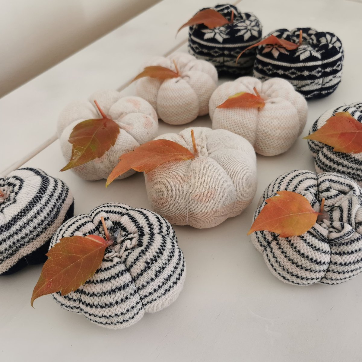 Sueanne made these super cute pumpkins from socks, dried rice and cotton - the perfect alternative autumn display!   Enter our October Make of the Month Competition for a chance to win up to £100:  https://t.co/RjwMFtf4zF  #OctMotm20 #Competition #Hobbycraft https://t.co/Vb8hGFDj0f