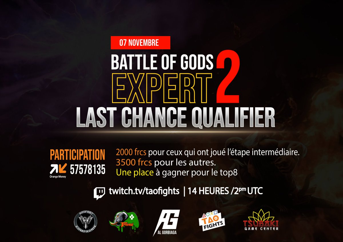On November 7, BOG's BEGINNINGS will be SOUNDED.  CHALLENGE Inter Ivorian 🇨🇮 having acquired a GREAT EXPERIENCE & an OUTSTANDING ABILITY.  Be sure, AFRICA GOOD ASS #TEKKEN is THE NEXT BATTLE.  WATCH on https://t.co/BC9TzvOT8T CHANNEL & STICK AROUND , THEY'LL SHOW YOU GUYS 💪🏽 https://t.co/FDzdKnbCsQ
