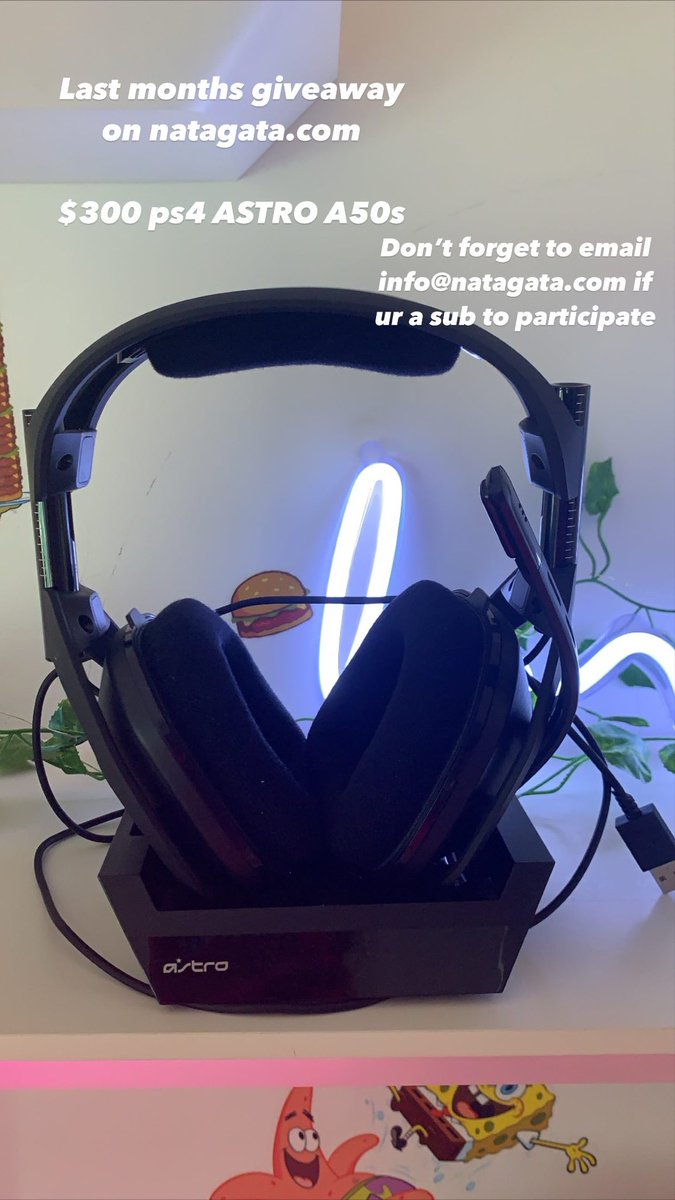 Last months giveaway on natagata.com $300 Astro A50s. Can't wait to share what this months giveaway is 🥰