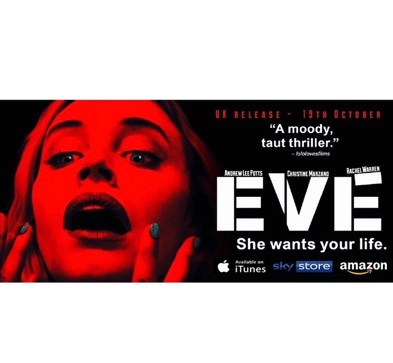 If ya wanna check out the new Movie EVE I play the male lead in , its out today! Let me know what ya think;) Sky Store Amazon Prime /ITunes