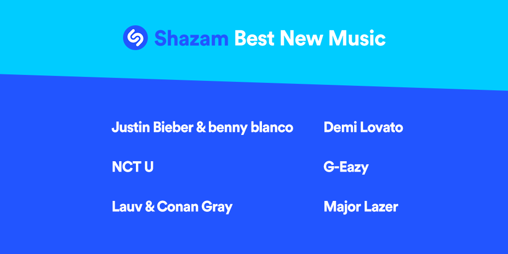 .@justinbieber x @ItsBennyBlanco, @NCTsmtown, @lauvsongs x @conangray, @ddlovato, @G_Eazy, @MAJORLAZER & more are all featured on our #BestNewMusic playlist: apple.co/BestNewMusic 🎉