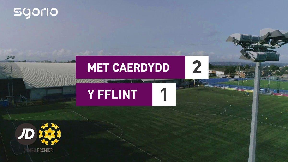 Image for the Tweet beginning: Uchafbwyntiau | Highlights  @CardiffMetFC 2-1 @FlintTownFC