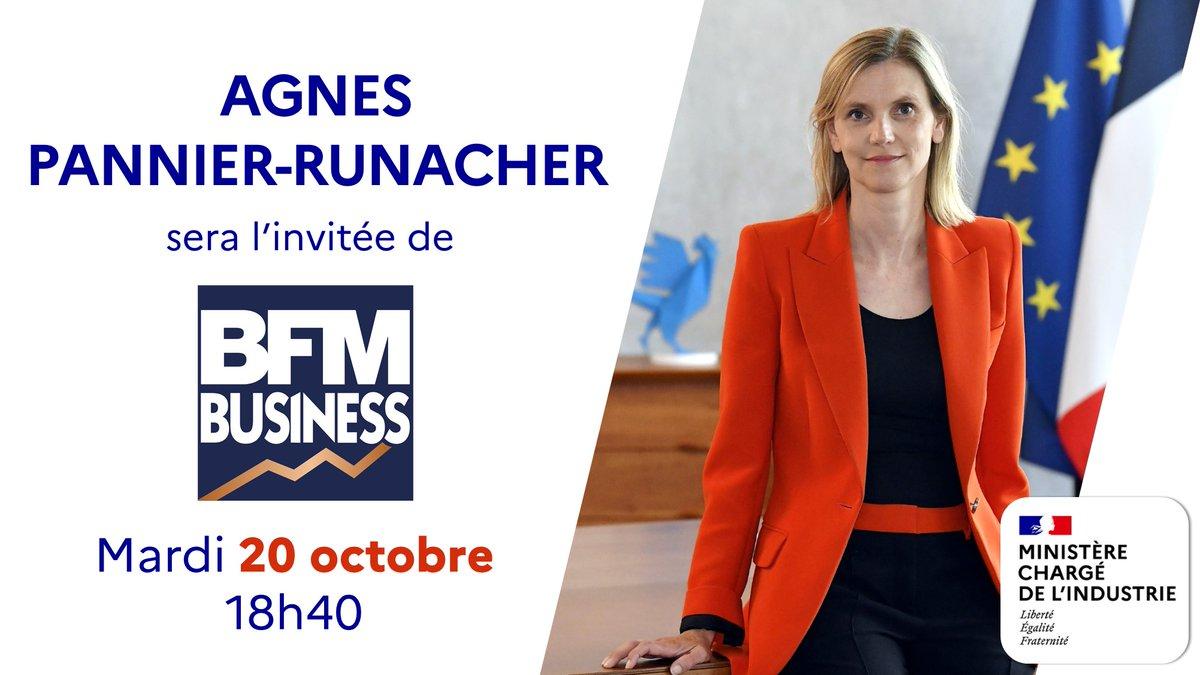 ⏰ Je vous donne rendez-vous mardi à 18h40 sur BFM Business dans le Grand Journal de l'Eco 🎙️Je répondrai aux questions d'Hedwige Chevrillon 📻 Écouter et voir en direct : https://t.co/N3JQudwuZD 💬 Réagir : #Industrie #FranceRelance https://t.co/XbX7PS5tbY
