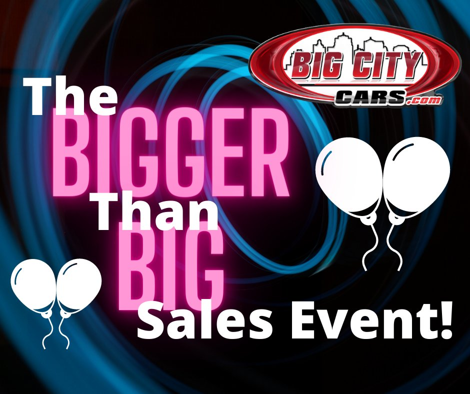 BIG selection!  BIGGER savings!  If you need a quality preowned vehicle...come see us today for an AMAZING deal!!!  #bigcitycars #WeSayYes #greatdeals #hugesavings https://t.co/nqSybWk5Zd