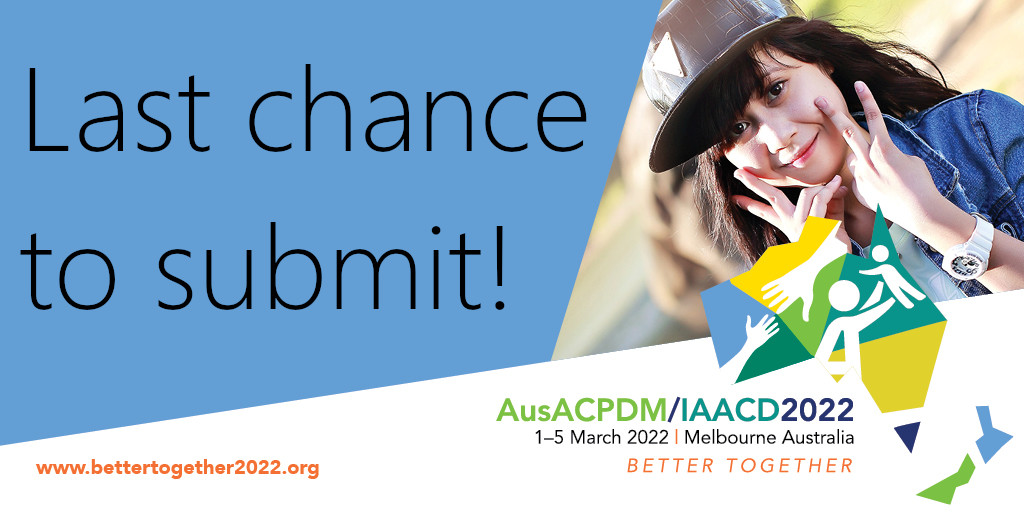Final few days to get your abstract submissions in for a Symposium or Debate for the #BetterTogether2022 combined @AusACPDM and @IAACDtweets conference. Don't miss out! https://t.co/lBgZZv2JsF
