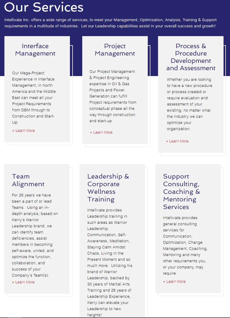 Intellivate is more than project and interface management.  We execute Leadership Development, Team Alignment and Process and Procedure Development, Assessment and Audits for any industry or Workplace! #intellivateinc #Leadershipdevelopment #teamalignment https://t.co/Z1C4rmqQHm