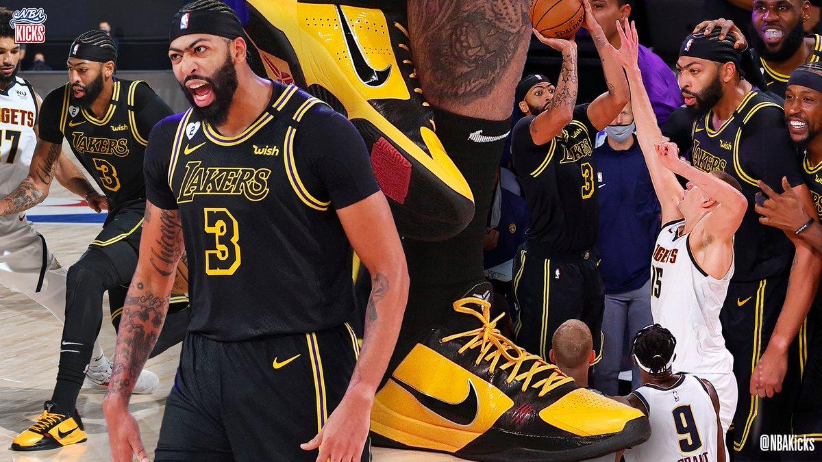 "Clutch in Orlando! @AntDavis23 for the win... in the ""Bruce Lee"" Nike Kobe 5!  #NBAKicks #BESTofNBARestart https://t.co/fbLoMih3RP"