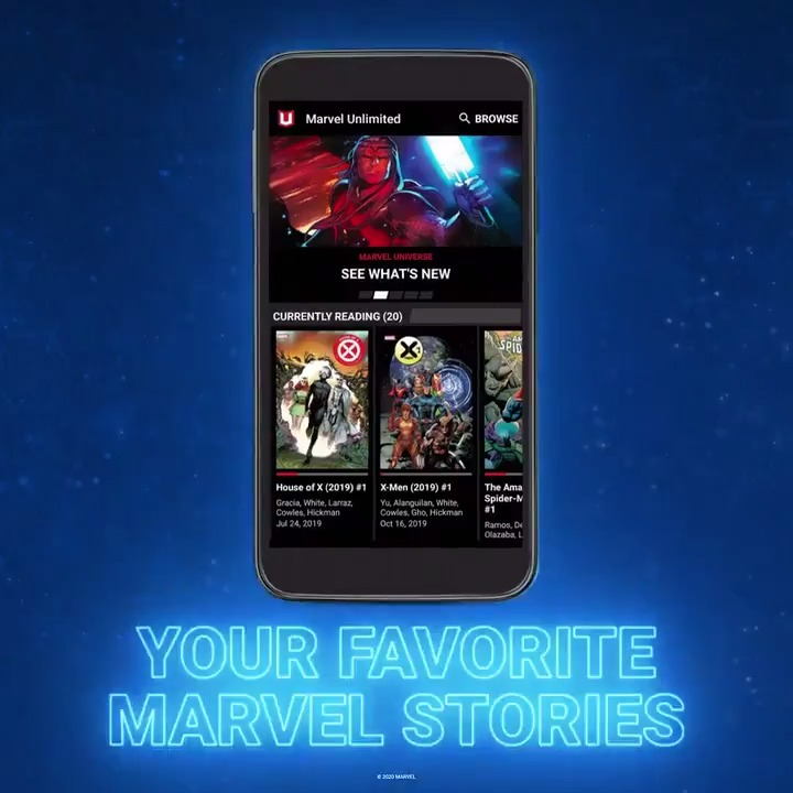 """🆕 Access comics on @MarvelUnlimited just three months after they're in stores!  📚📲 Starting today, read your favorite stories even sooner, including new issues of """"Avengers,"""" """"X-Men,"""" and mega-cosmic event """"Empyre"""":"""
