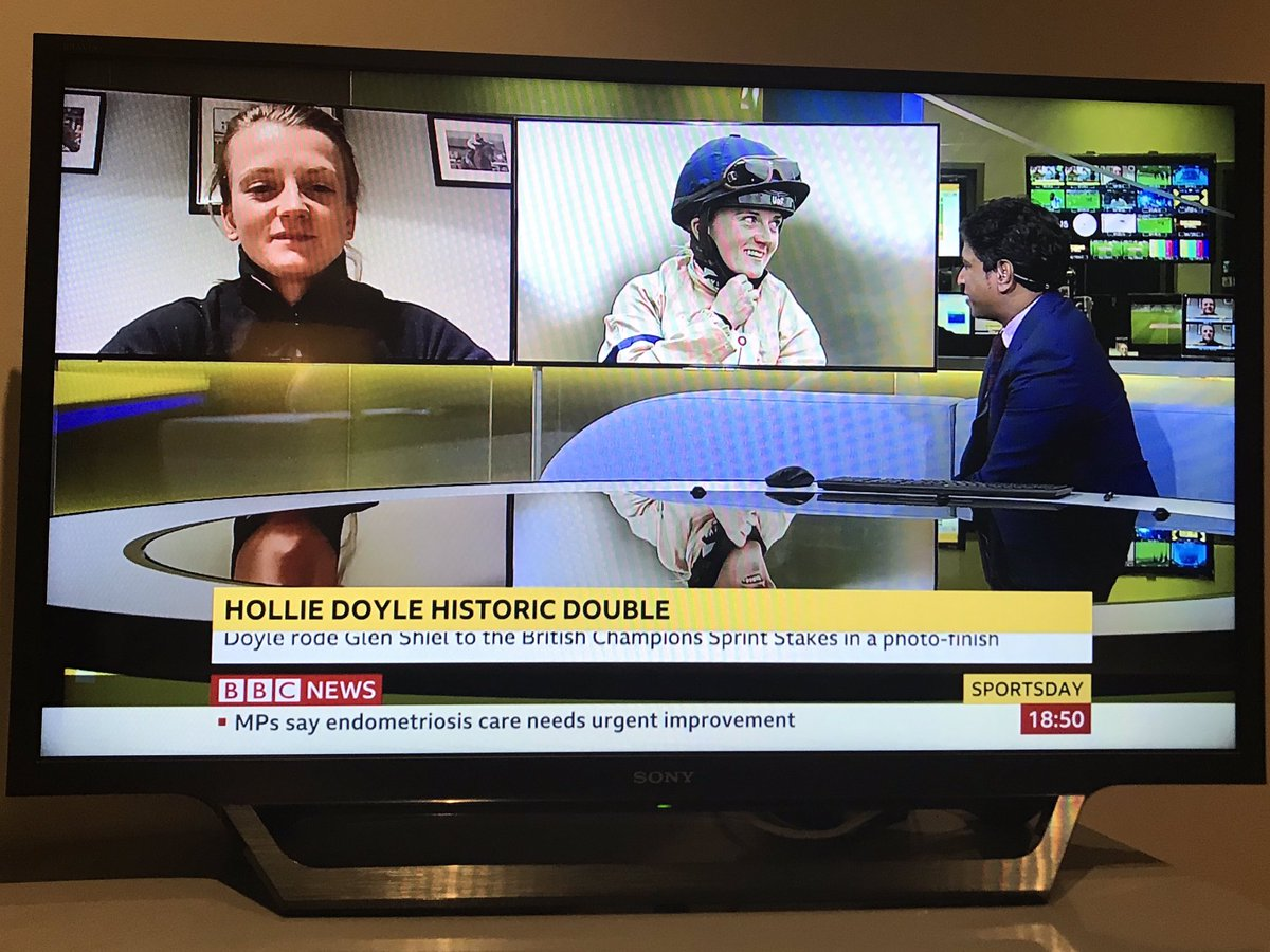Following on from @BBCr4today this morning, @HollieDoyle1 back on @BBCSport this evening with @GavinROfficial 💪