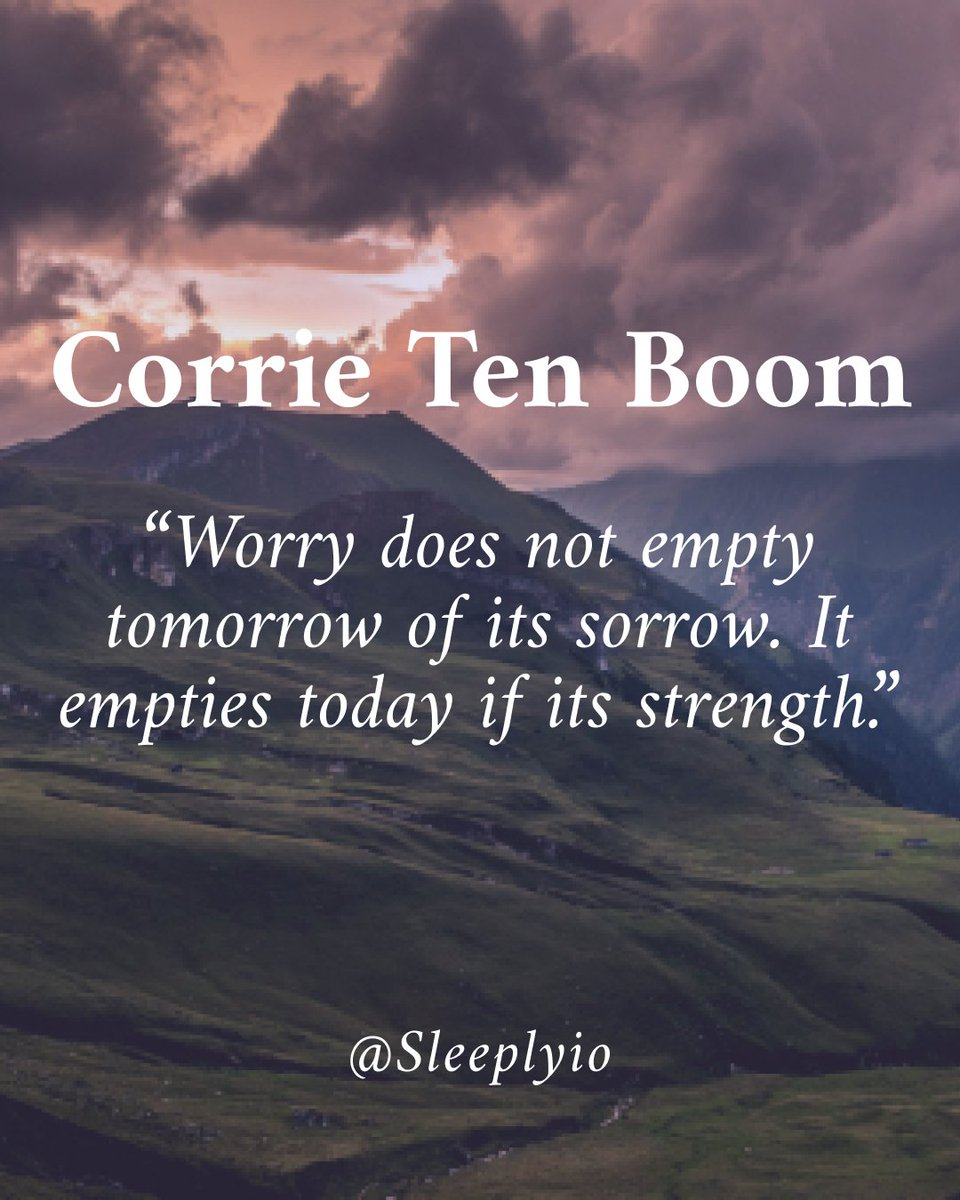 """""""Worry does not empty tomorrow of its sorrow. It empties today if its strength."""" 💪🏻  #trustyourjourney #youarestrongerthanyouthink #positivenergy #trustyourgut #positivityquotes #paulocoelhoquotes #sharepositivity #wednesdaywisdom #wednesdaythoughts https://t.co/c5hEse600A"""