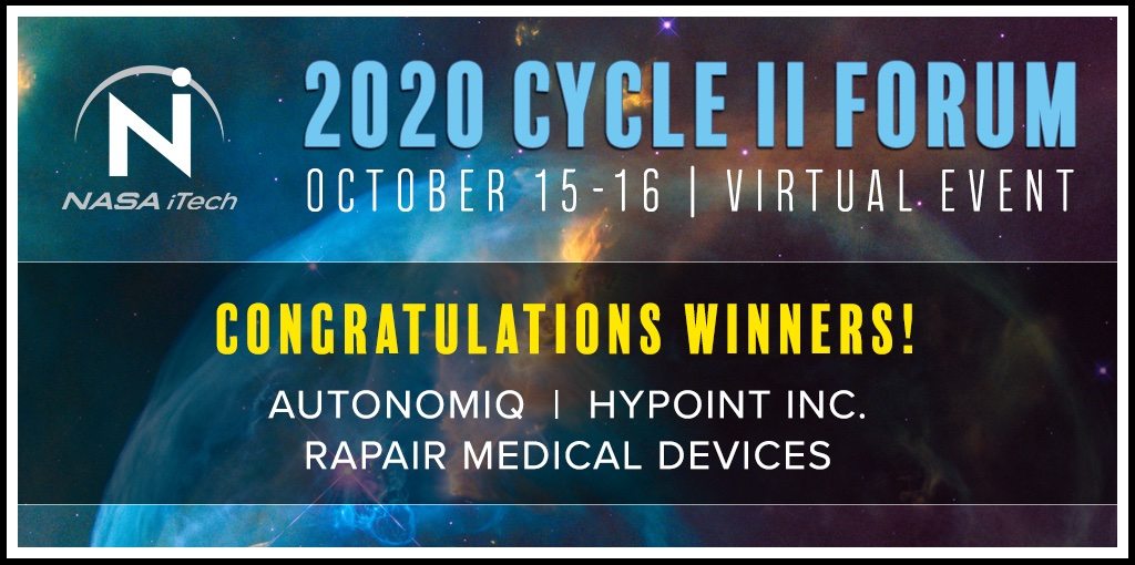 #ICYMI the 2020 iTech Cycle II winning innovations include a way to generate automation code without humans, a next-gen hydrogen fuel cell system, and a wound dressing that aims to nano-engineer molecules to rapidly repair skin lacerations. Learn more: go.nasa.gov/2FF9sHz