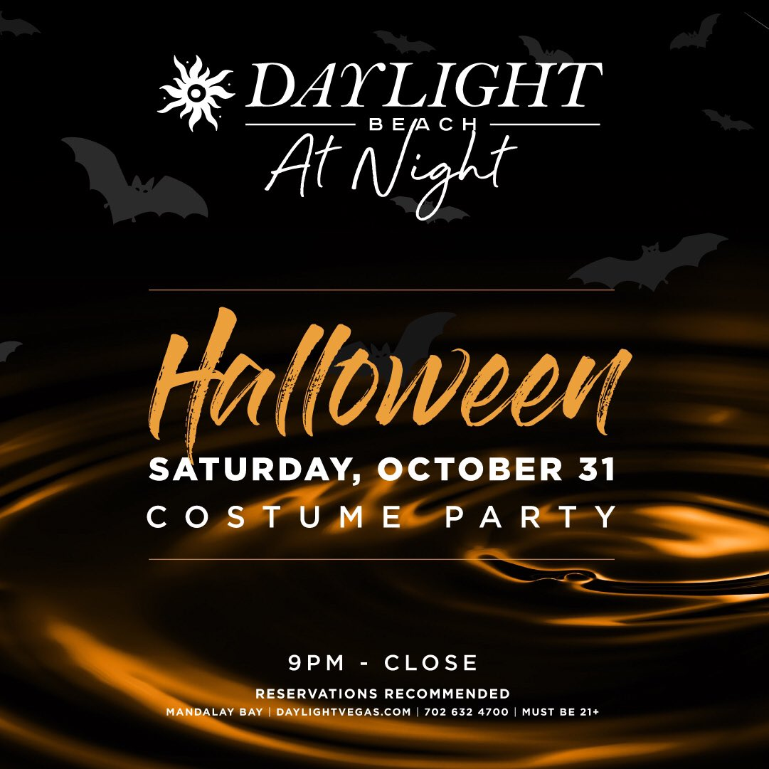 We have your Halloween plans covered! Get your best costume on and party in the moonlight at Daylight Beach At Night! Click the link in our bio to make your reservation! Costumes are encouraged. https://t.co/rlTkNHeq2H