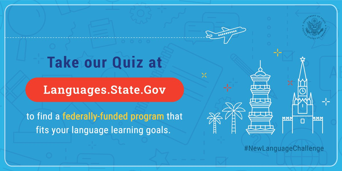 Foreign language skills open doors in today's interconnected world, and the U.S. government offers a diverse set of programs to teach foreign languages that are critical to national security and economic prosperity. Learn more at our new website: https://t.co/0ZoyGKTyGe https://t.co/yvyvoliPle