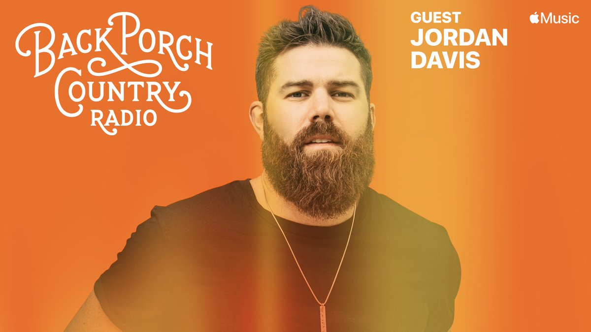 Stoked to have @JordanCWDavis on the back porch with me this week, hang with us on Back Porch Country Radio tonight @applemusic  M-Th 6p/ 7ET/ 4PT #applemusic #CountryMusic #jordandavis #backporchcountry #aleciadavis #davistodavis #ontheporch