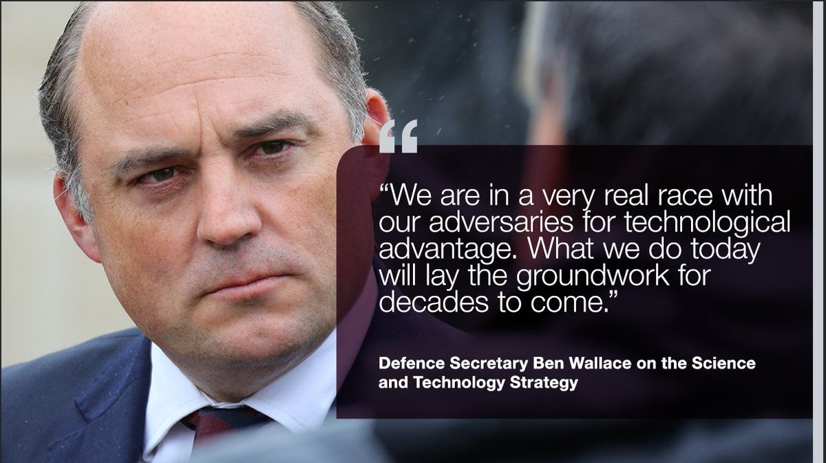 Ground-breaking innovation will be at the heart of defence activity for generations, thanks to a bold new Science and Technology Strategy unveiled today by Defence Secretary @BWallaceMP and Chief Scientific Adviser, Professor Dame Angela McLean. More here: ow.ly/mYRk50BWFux