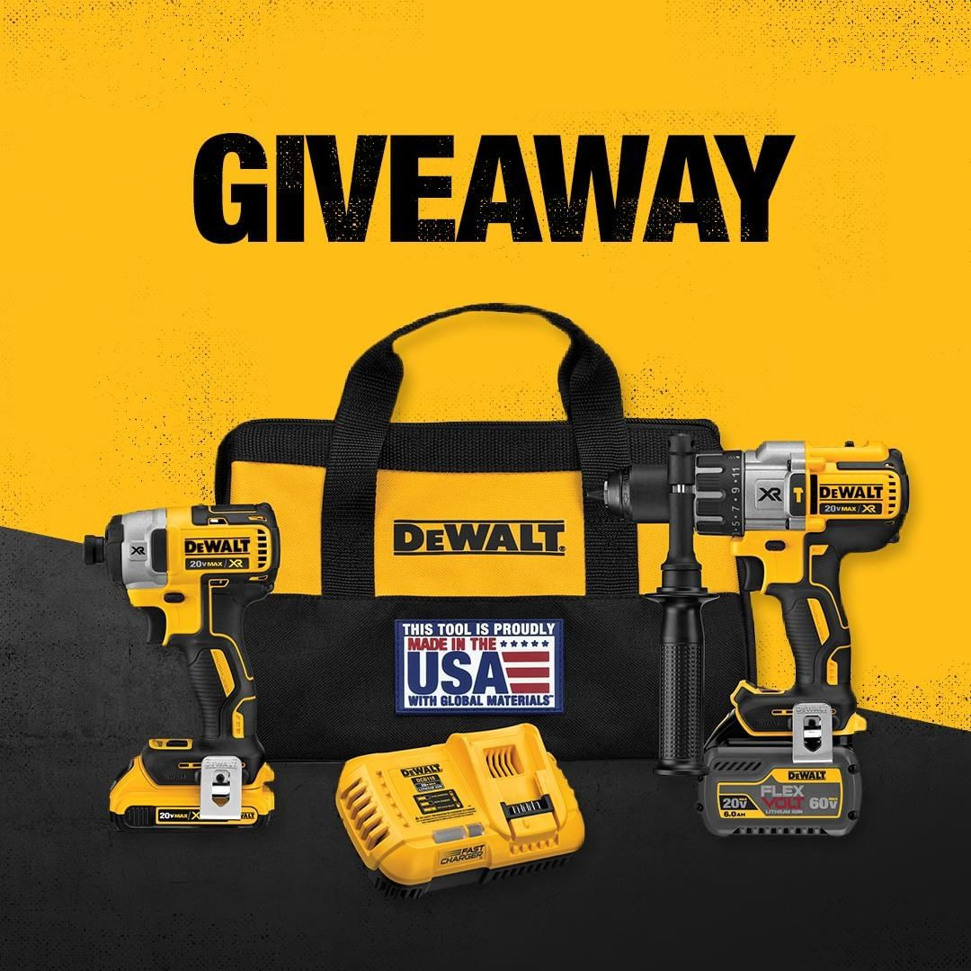 This Maker Month we're celebrating builders, workers, and the toughest of the tough. Show us something you built using #MakerMonthGiveaway for a chance to win a DEWALT tool package worth $400.  …. Now through 10/23. See official rules for details: