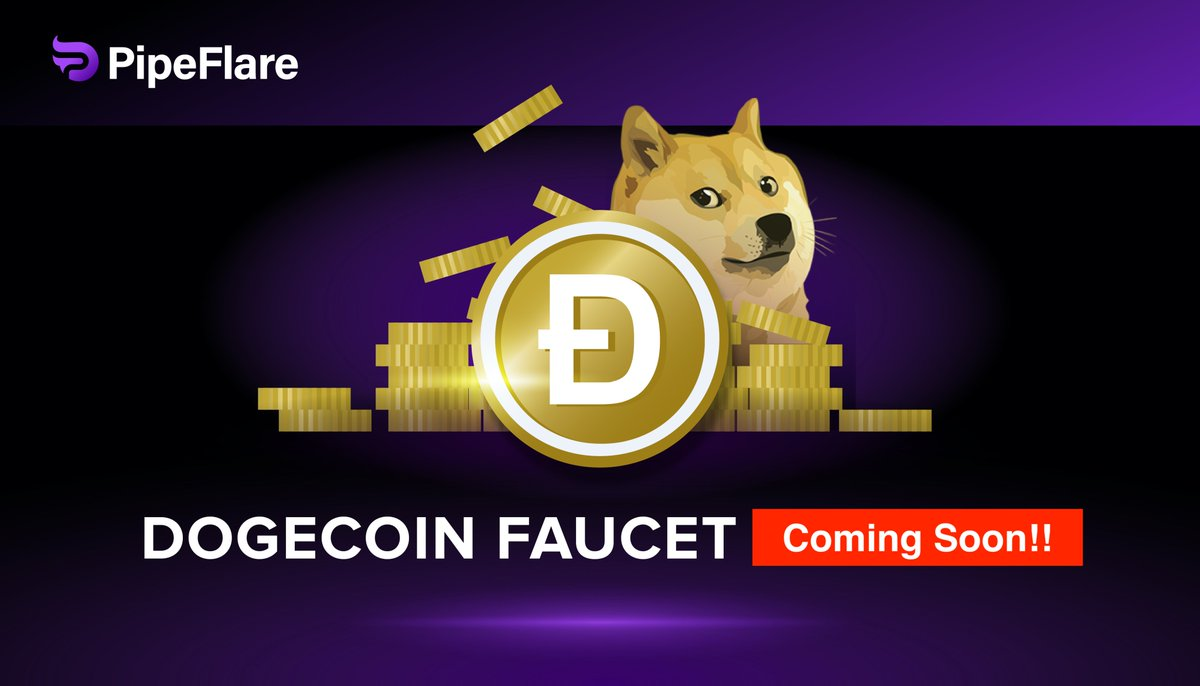 Retweet post, tag 3 friends, and get ready for @dogecoin!!  Follow @PipeFlare to get notified first! Don't miss your rewards.