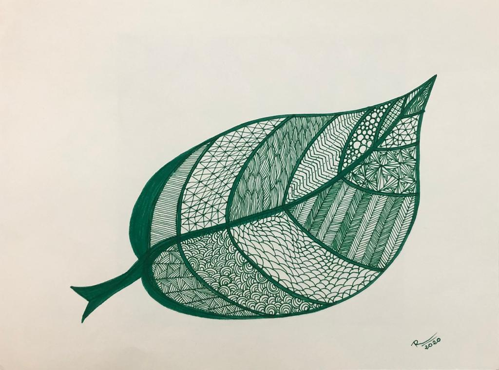 cool evening -  within a leaf, the forest  awakens ~   #micropoetry #zentangle #art #leaf https://t.co/I8zxxbqPpz