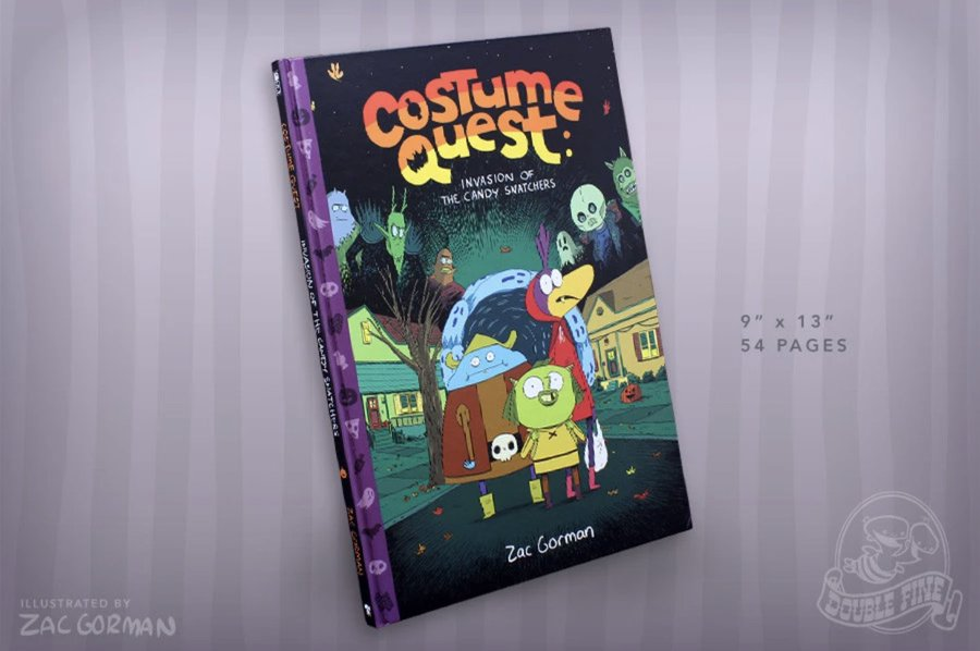And! AND! Remember that from now until Oct. 31st, you can receive a free copy of 'Costume Quest: Invasion of the Candy Snatchers' with *any* physical book purchase from  @Fangamer.   Phew, that's a lot of costumes and questing.. https://t.co/fba2gqBvXO