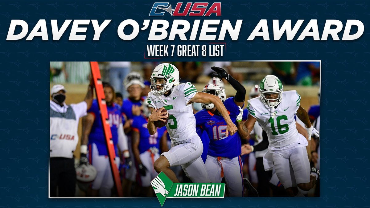 Add another weekly honor to @MeanGreenFB QB Jason Bean's belt!  #TheCUSAWay https://t.co/2hSC1C4gZq