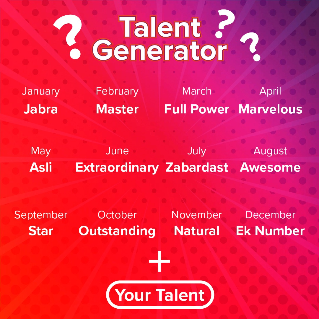 Your birth month + a #talent you have = the artist you are. Let me start... So mine would be 'Marvelous Host'! Now your turn! Tell us who you are! https://t.co/xJbEWl41Iy