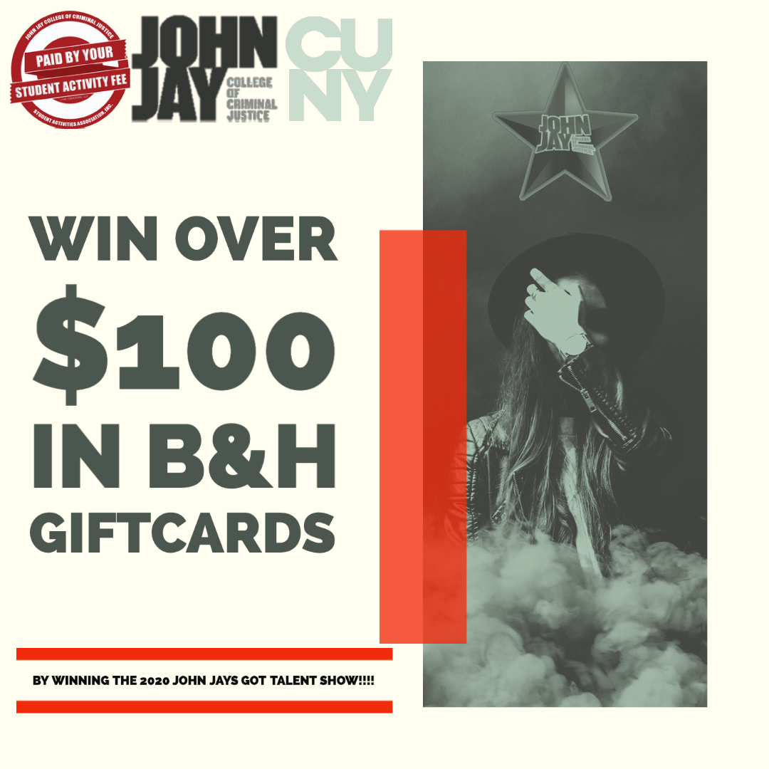 Brought to you via zoom. Join us and win over $100 is in B&H gift cards!!!!   Contact: johnjaysgottalent@gmail.com for more info!!  #Johnjay #talent #cuny #productions https://t.co/vibMy4MyNQ