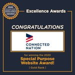 Image for the Tweet beginning: #ConnectedNation Receives Excellence in Economic