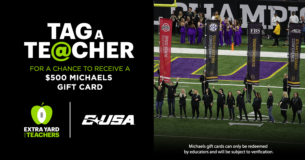It's that time of the week to #TagATeacher!   Reply and tag a deserving teacher who could use a $500 @MichaelsStores gift card!  #CFPExtraYard | #GreatTeachersChangeLives https://t.co/Uj9SpIaCVZ