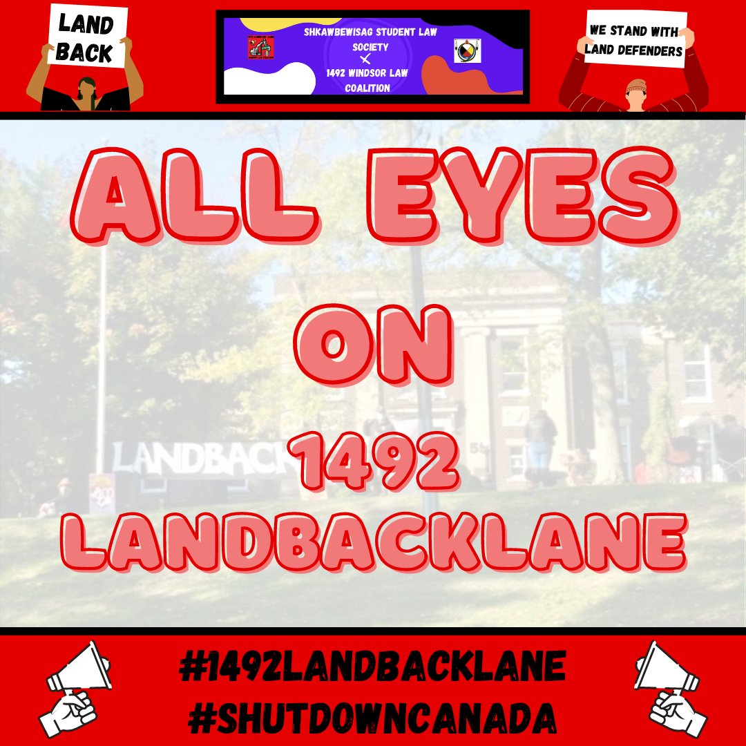 🚨ACTION ITEM ALERT🚨 Please follow 1492 Land Back Lane on FB, @1492LBL on Twitter, and donate to the legal fund by sending e-transfers directly to landback6nations@gmail.com. IN SOLIDARITY #LANDBACK #SHUTDOWNCANADA #1492LandBackLane