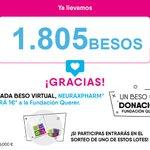 Image for the Tweet beginning: ¡TOCA #RECUENTO! 1⃣8⃣0⃣5⃣ #BesosVirtuales  #Gracias a los