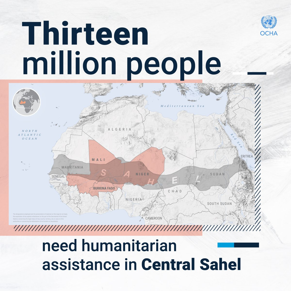 People in the Central Sahel are facing a catastrophe.  A record 13.4 million people need humanitarian assistance and protection to survive.  We must act for #SahelNow to avoid more human suffering. https://t.co/dtDcnA4oS2 https://t.co/WkzFStrPkj
