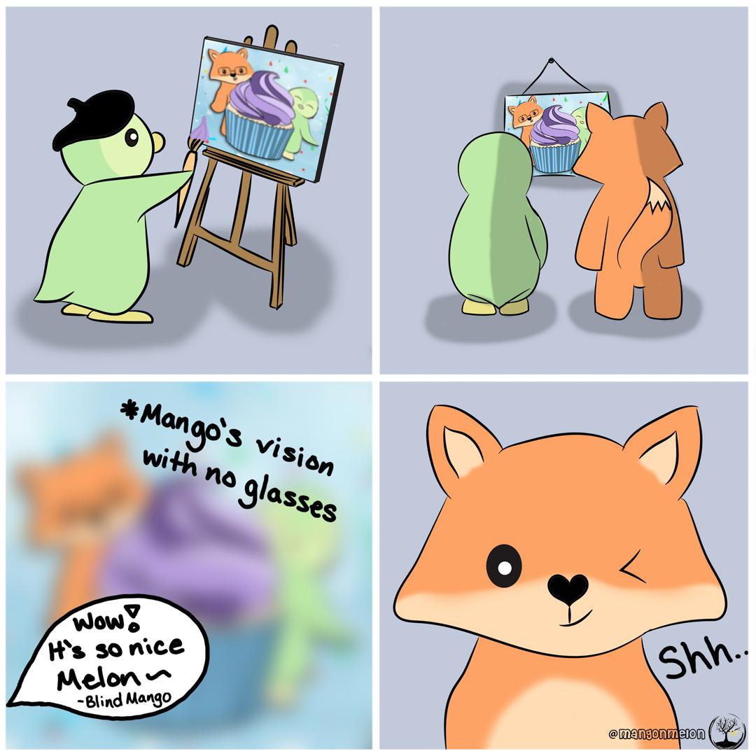 Pengcasso & The Blind Fox  • • • • #fanart #dailydoodle #webcomics #webtoon #MangoNMelon #mango #melon #comics #comic #food #art #cute #doodle #artwork #glasses #penguin #fox https://t.co/bvUDT8iD0l