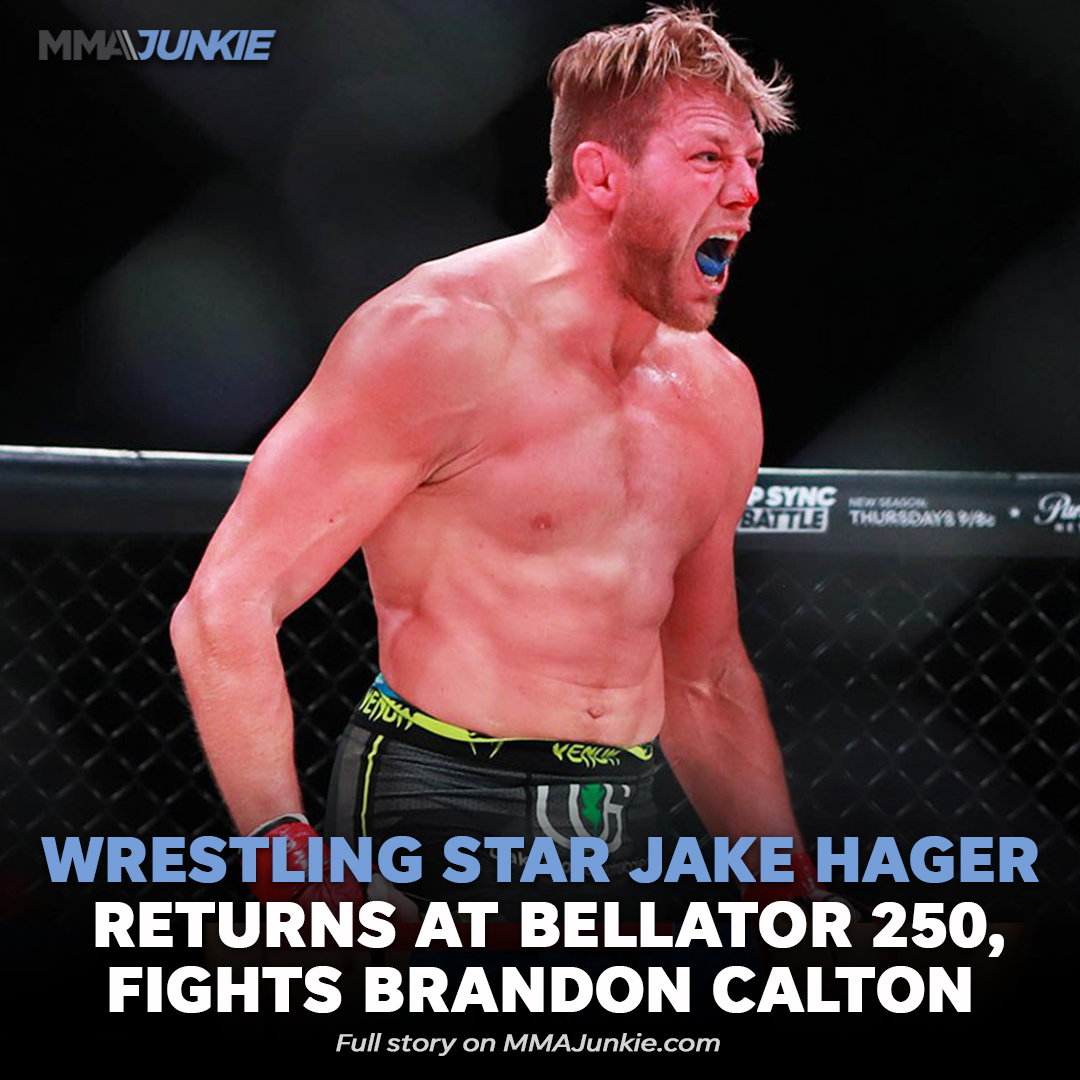#BREAKING: @AEW star @RealJakeHager books MMA return for #Bellator250 on Oct. 29  News via @mma_kings   Full story: https://t.co/kYLEpLeZW2 https://t.co/PYeYe22rmj