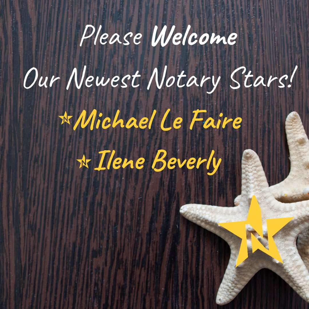 Please Welcome our Newest #NotaryStar Michael Le Faire from #ForestPark #Illinois and Ilene Beverly #NotaryStars #NotaryPublic #LoanSigningAgent #MobileNotary #NotarySigningAgent  https://t.co/UkXiOBrtQo https://t.co/bDxpQnkuWS