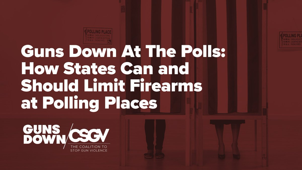 We've worked with @CSGV and @bradybuzz to share these safety recommendations with election officials all across the country - and we're excited to report that four of the five states we looked at are taking proactive measures to stand up to voter intimidation! https://t.co/SAYPuQdzQG