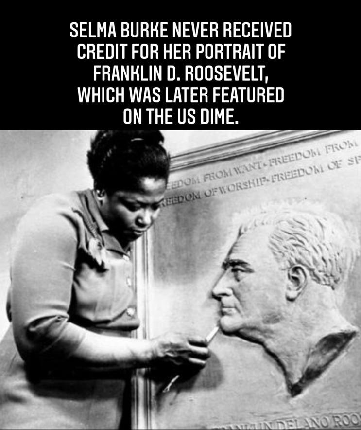Hey u guys, here's an interesting fact I just learned about Selma Burke... #HiddenFigures 🙏🏾🖤👑 https://t.co/IaQuBRw69r