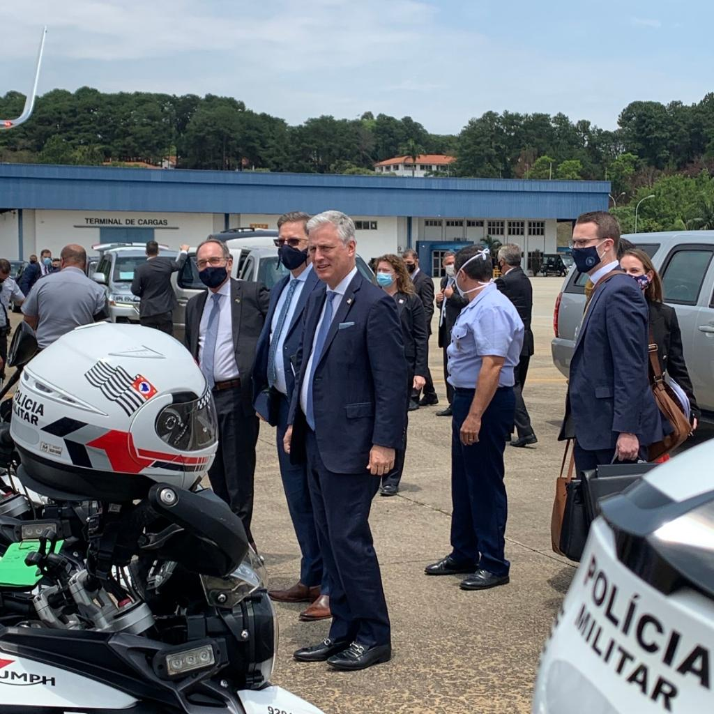 NSA Robert C. O'Brien thanks the Polícia Militar in Sao Paolo who escorted his motorcade. The support of these public servants helps make the U.S. – Brazil relationship great. Thank you!